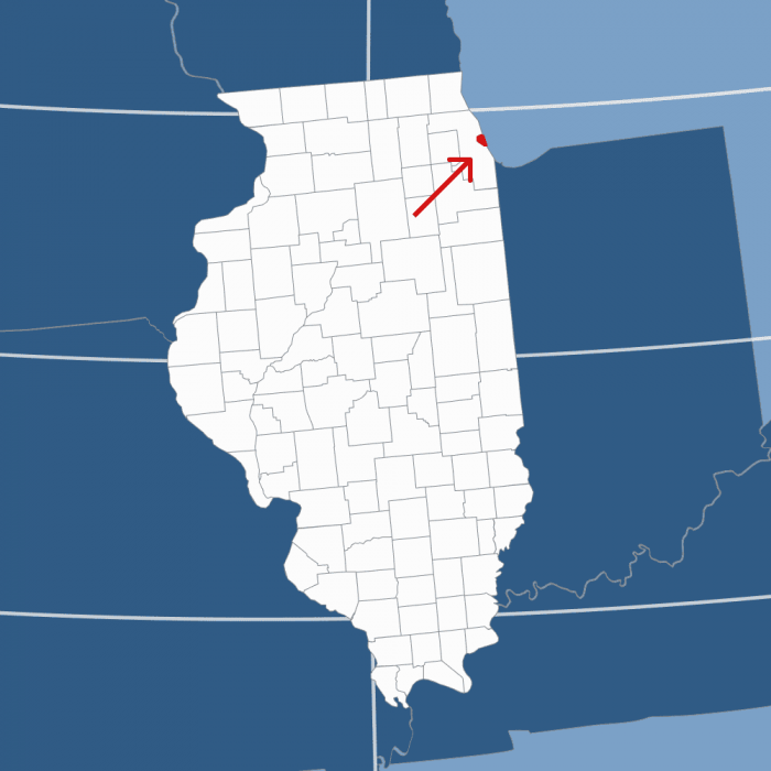 Area code 312 map