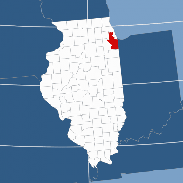 Area code 708 map