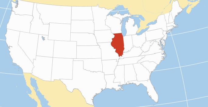 Illinois area codes map